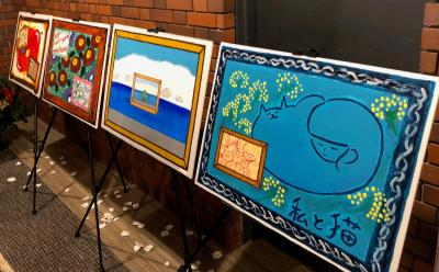 2017年12月、苗場プリンスホテルで開催されたイベントには、Nao☆さんの描いたイラストの展示もあった