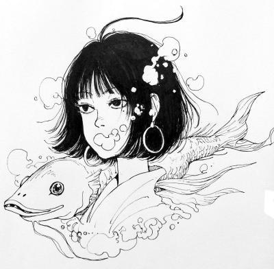 天野雀さんが描いたイラスト