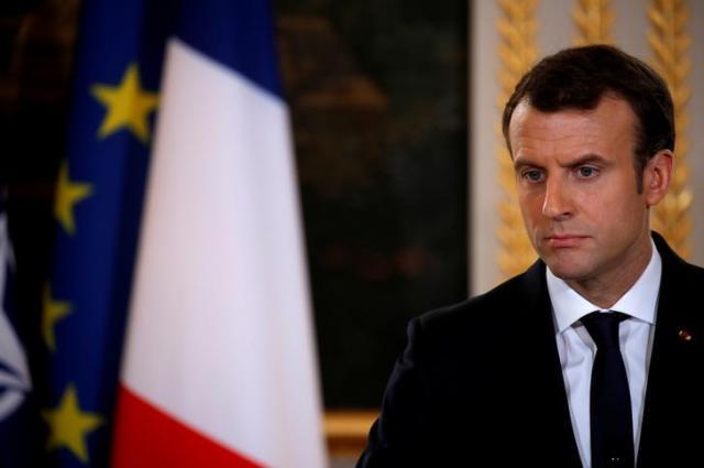 支持率が急落したフランスのマクロン大統領=2017年12月19日