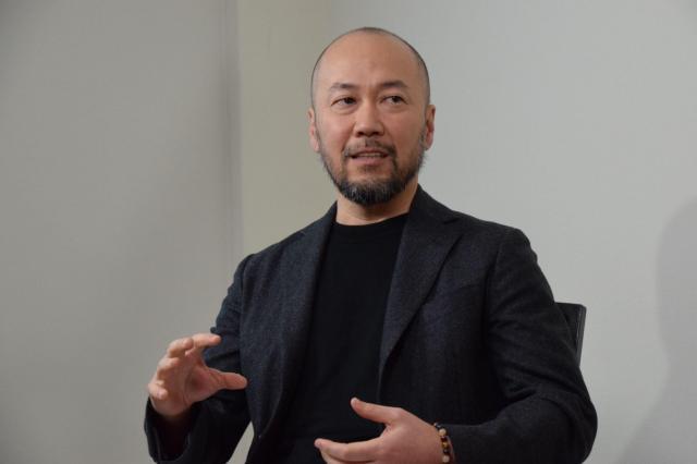 井上雄彦さん=2017年12月、熊本市