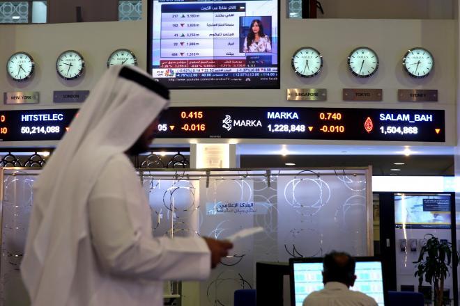 アラブ首長国連邦のドバイにある証券取引所「ドバイ金融市場」=2017年6月5日