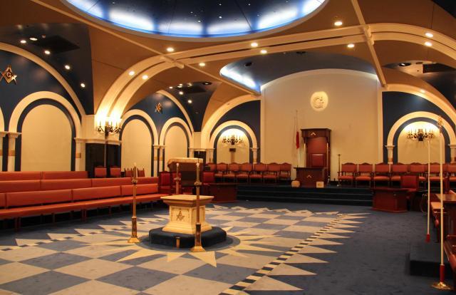 秘密の儀式を行うホール