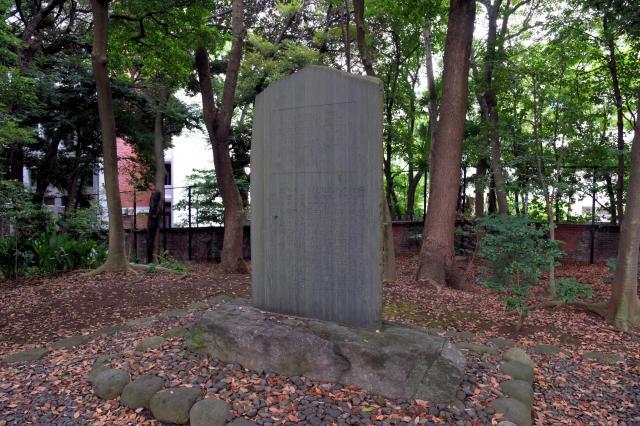 イタリア大使館にある赤穂浪士ゆかりの石碑