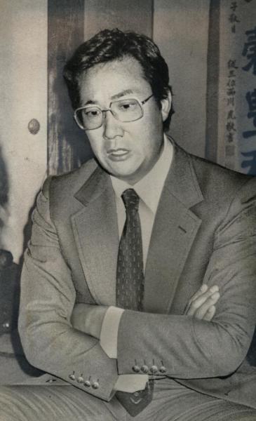 暴力団との交際問題で処分を受けた大相撲の九重親方(元横綱北の富士)=1982年