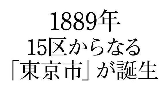 1889年には15区からなる「東京市」が誕生。人口増加のきっかけに