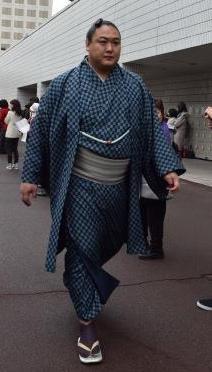 イケメン力士としても名高いモンゴル出身の旭秀鵬関=2016年初場所、両国国技館
