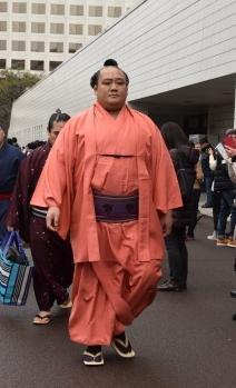 今年引退し、小野川親方を襲名した元北太樹関=2016年初場所、両国国技館