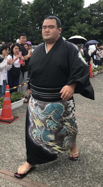 福岡県出身の琴奨菊関は竜=2017年名古屋場所、愛知県体育館
