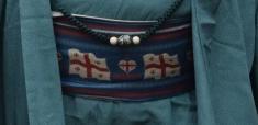 栃ノ心と同じジョージア出身の臥牙丸はジョージアの国旗を帯に描いていました=2016年初場所