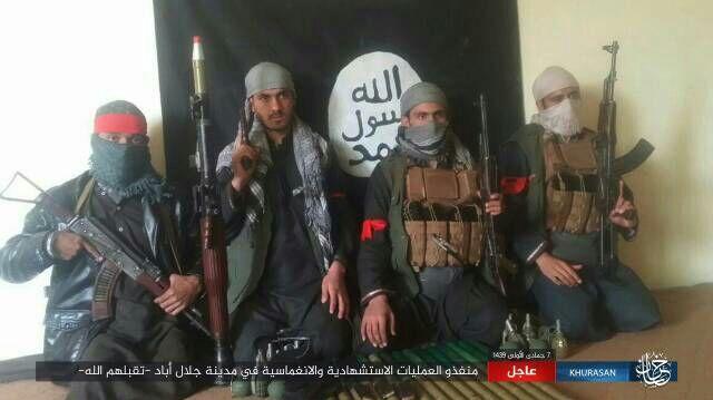 アフガニスタン東部に拠点を置くイスラム国(IS)支部が系列のアマク通信を通じて襲撃犯とされる4人の写真を流した