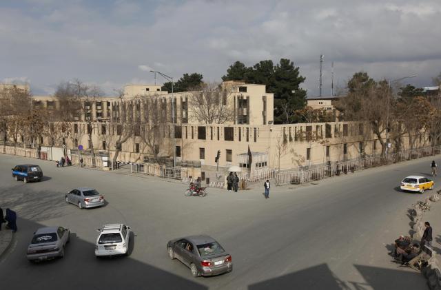 アフガニスタンの首都カブールで、2014年3月21日に撮影されたセレナホテルの写真。この前日にも襲撃事件があった