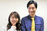 相席スタートの山添寛さん(右)と山﨑ケイさん