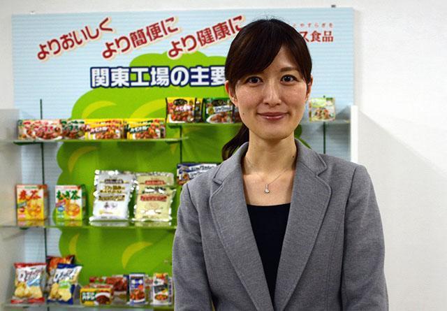 開発者の佐藤みゆきさん。学生時代のボランティアで「食べ物には人を笑顔にする力がある」と実感したそうです