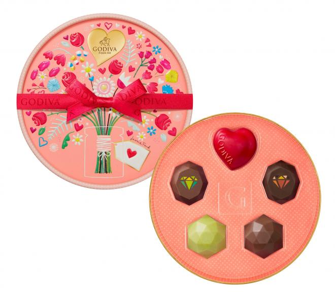 ゴディバのチョコレート「ジュエリー セレクション」(5粒入、税込み2160円)