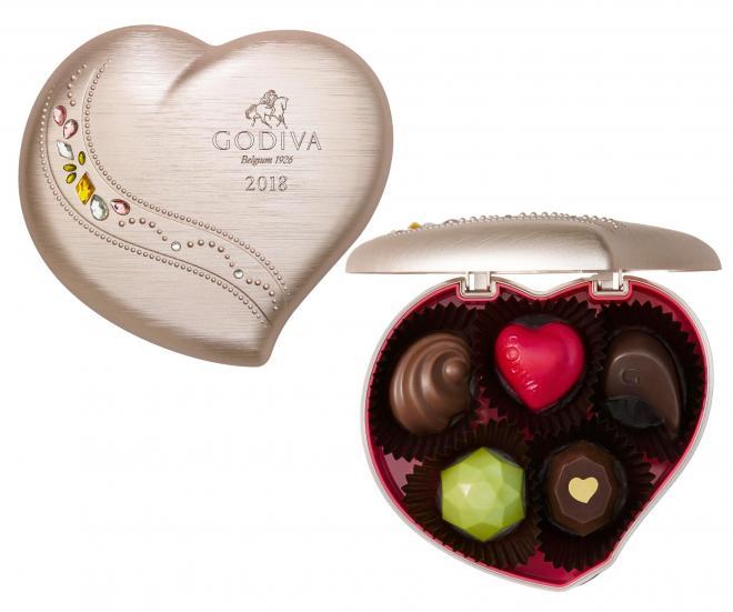ゴディバのチョコレート「ジュエリー キープセイク」(5粒入、税込み3996円)
