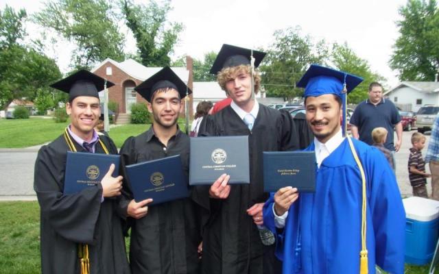 アメリカのカリフォルニア大学サンディエゴ校卒業式にて