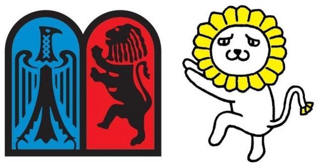 左が有斐閣の社章、右がシッシー