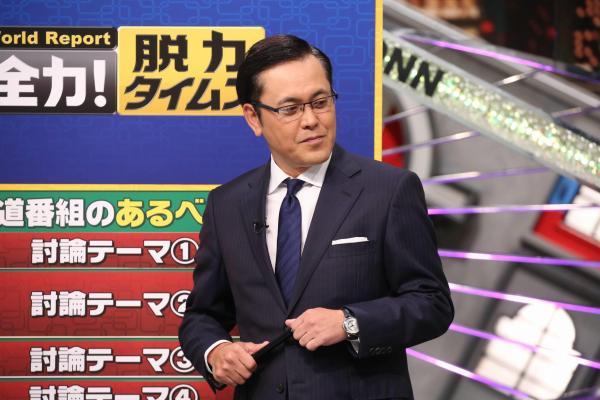 メインキャスターのアリタ哲平さん(有田哲平さん)。豊富な経験で番組の流れを操る