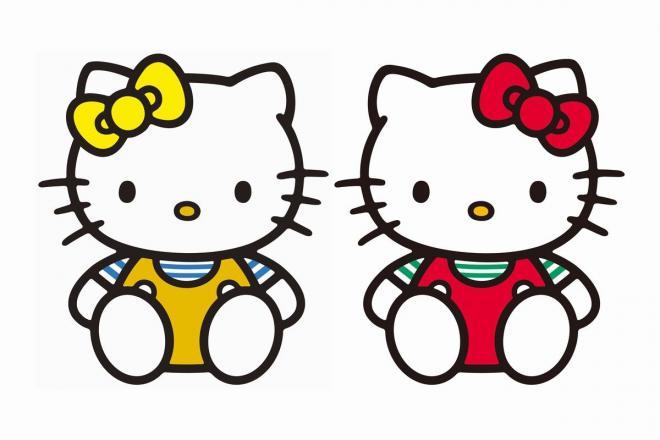 右がキティ、左は双子の妹「ミミィ」 (C)1976, 2018 SANRIO CO., LTD.