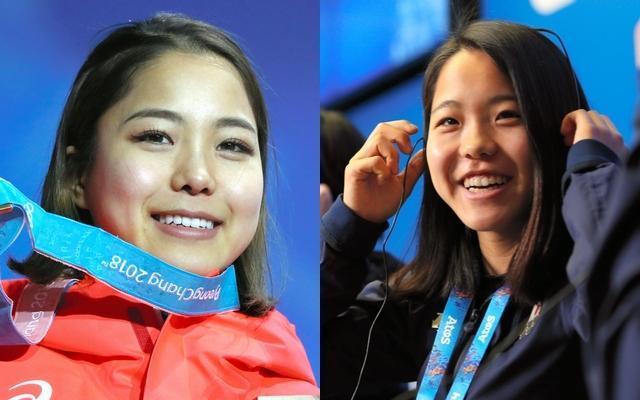 平昌五輪で銅メダルを獲得した高梨沙羅選手(21)。右はソチ五輪の写真
