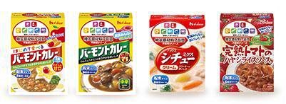 特定原材料7品目不使用シリーズは、「バーモントカレー」「シチューミクス」など4商品のラインアップ。