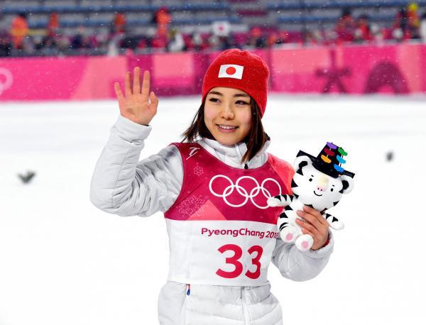 平昌五輪で銅メダルを獲得した高梨選手