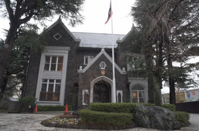 タイの大使公邸。ゴシックスタイルの洋館で、1934年に完成した