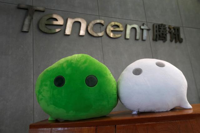 テンセント社のマスコット=2017年5月9日、広州