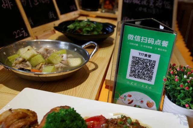 レストランでもWeChatPayを使い、注文や決算などが非常に便利