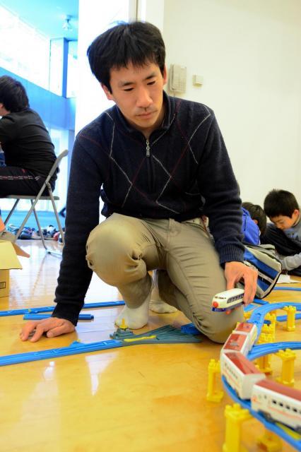 プラレールで生計を立てる松岡純正さん