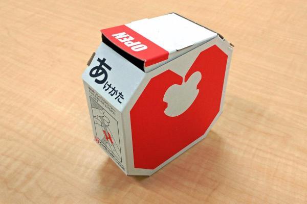 ノベルティーグッズとして制作されたバッグ・クロージャーの箱。非売品です
