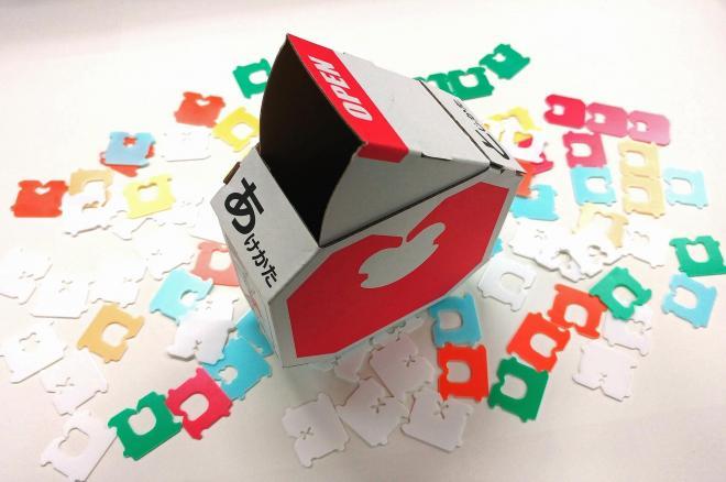ノベルティーグッズとして制作されたバッグ・クロージャーの箱
