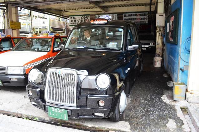 「想い出タクシー」としても運行しているロンドンタクシー