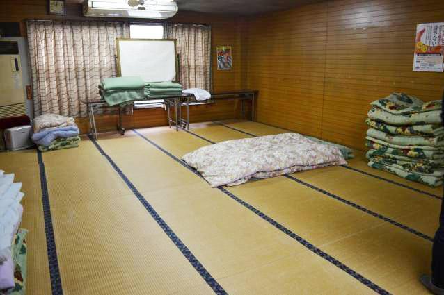 社屋にある仮眠スペース。味のある畳に時間を感じる。女子用の仮眠スペースは別のマンションを用意している。