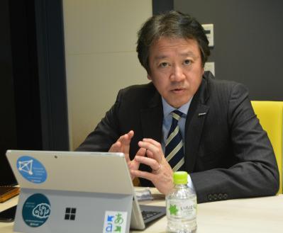 日本マイクロソフトの榊原彰・執行役員最高技術責任者=東京都港区