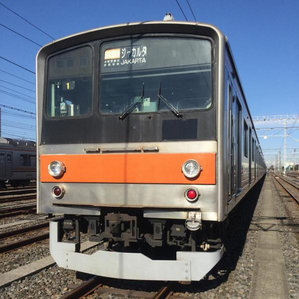 3月2日に回送した列車「快速むさしのドリーム」ジャカルタ行き