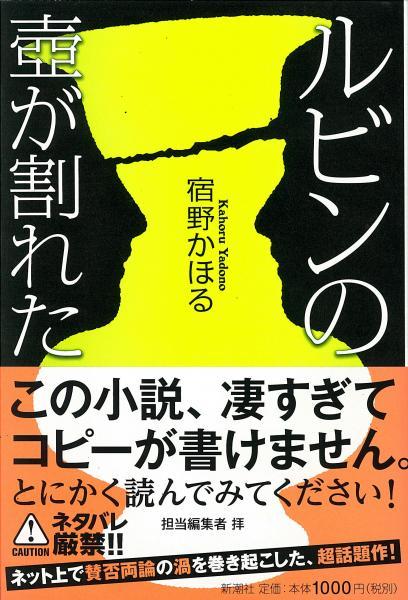 覆面作家・宿野かほるさんの小説「ルビンの壺(つぼ)が割れた」の表紙