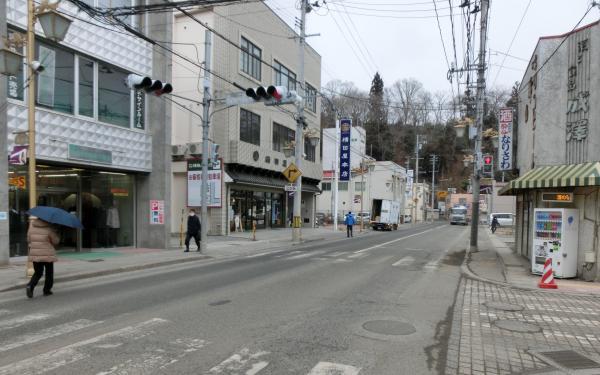 【2】2018年2月24日の商店街の風景=気仙沼市八日町付近
