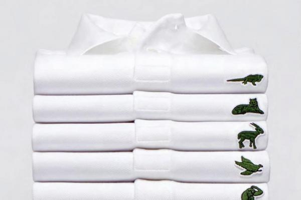 米欧限定で販売されたポロシャツ。ロゴがワニ以外の動物になっています