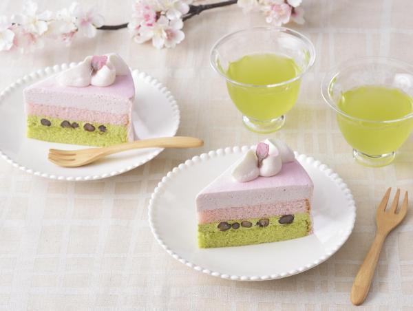 さくらと抹茶のケーキ(春限定品)