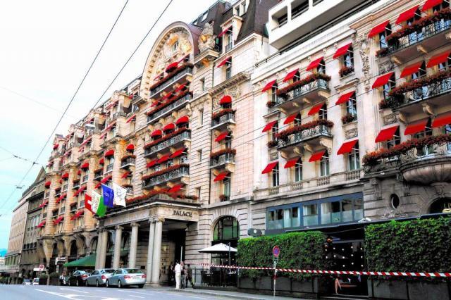 IOC本部があるスイス・ローザンヌの高台に立つ五つ星のパレスホテル