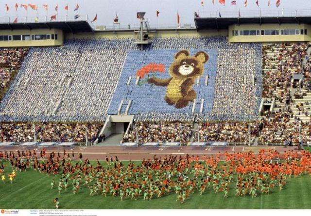 モスクワ五輪の開会式=ロイター