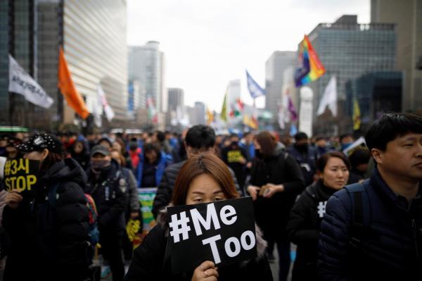 国際女性デーだった3月8日にあったソウルでのデモ