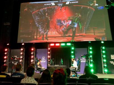 「SXSW Gaming」の一環として開催されたeスポーツ対戦会の模様=米テキサス州オースティン