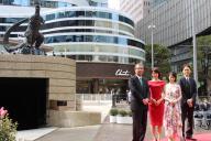 日比谷シャンテ前で行われた新・ゴジラ像除幕式