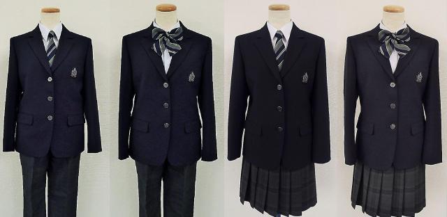 ネクタイとリボンは同じ柄。どちらを選んでもいい