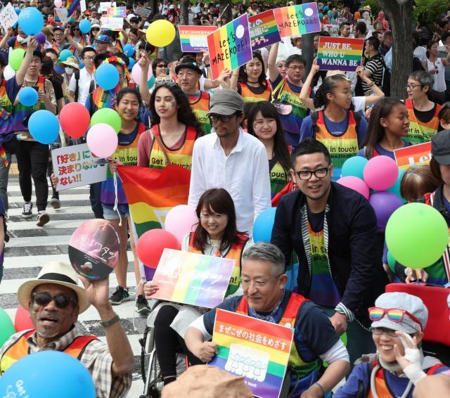 2017年の東京レインボープライドのパレード