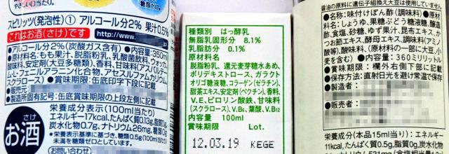 食品の栄養成分表示