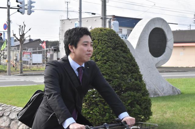転職後は自転車通勤をしている北島さん