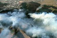 2002年3月、長野県松本市で発生した山火事